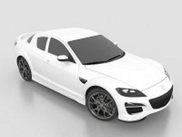 Mazda RX-8 sports car 3d model