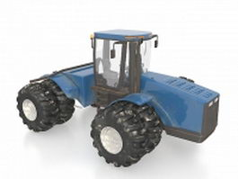 Old utility tractor 3d model