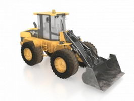 Wheeled bulldozer 3d model