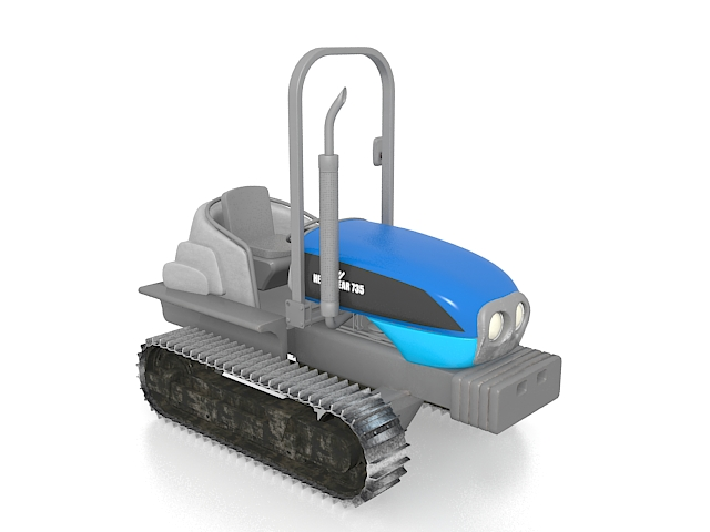Small tracked tractor 3d model 3ds max files free download