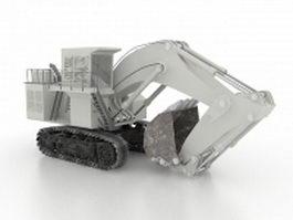 Track excavator 3d model