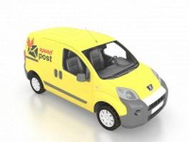 Peugeot Bipper small delivery van 3d model