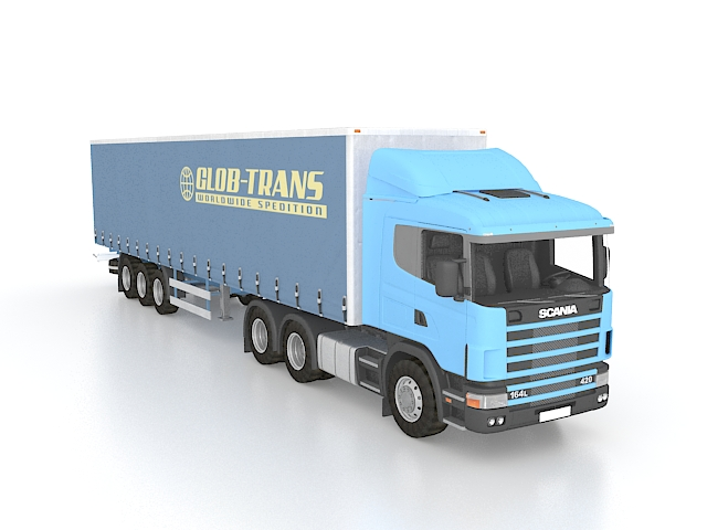 Scania Container Truck 3d Model 3ds Max Files Free
