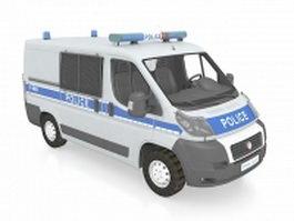 Police van 3d model