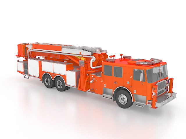 Aerial Apparatus Fire Truck 3d Model 3ds Max Files Free