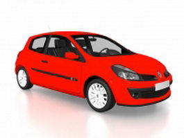 Clio Renault sport compact car 3d model