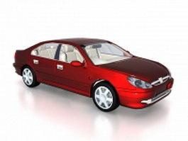 Peugeot 607 sedan car 3d model