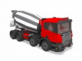 Scania cement mixer truck 3d model