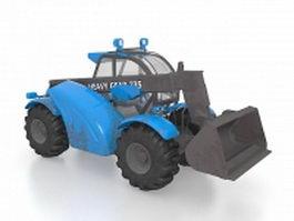 Skid loader 3d model