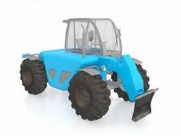 Row-crop tractor 3d model