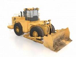 Excavator wheel loader 3d model