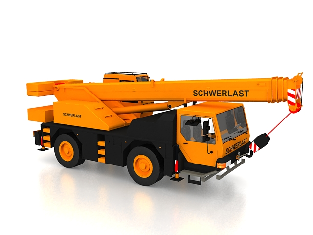 Loader Crane 3d Model 3ds Max Files Free Download