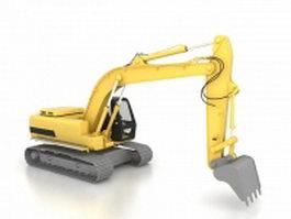Modern excavator 3d model