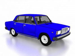 Lada Riva compact sedan car 3d model