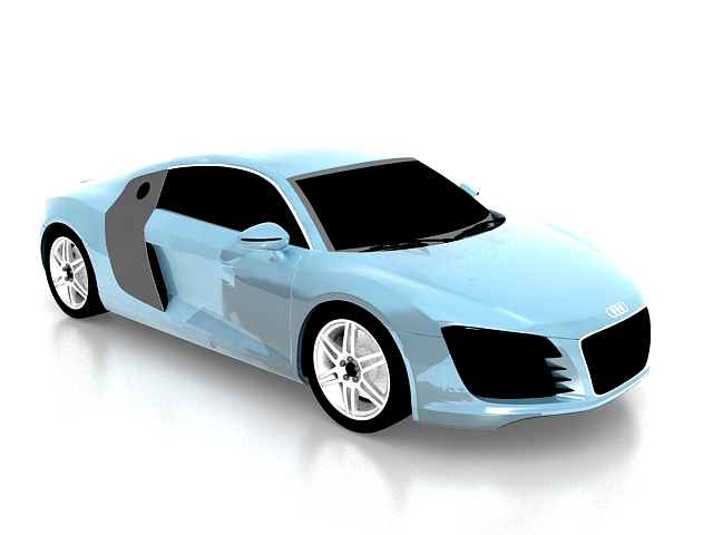 Audi R Sports Car D Model Ds Max Files Free Download Modeling - Audi 2 door sports car