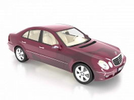 Mercedes-Benz E executive car 3d model