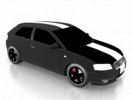Audi A3 compact car 3d model