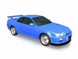 Nissan GT-R sports coupe 3d model
