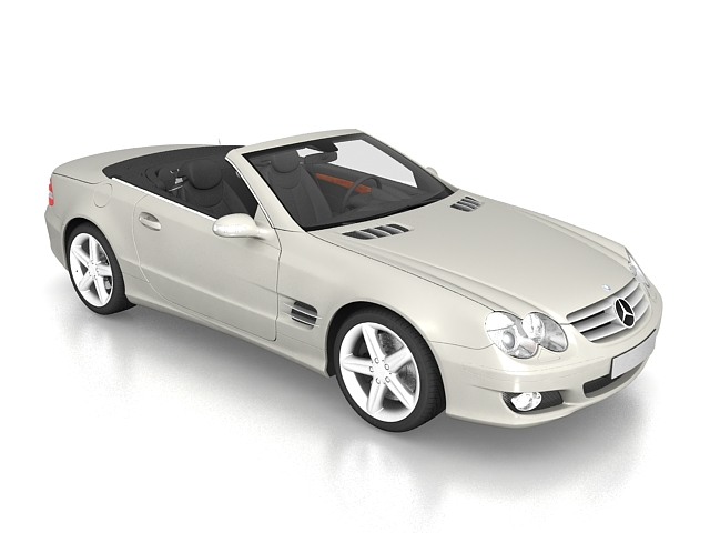 3dSkyHost: Mercedes-Benz SL 500 roadster 3D Model