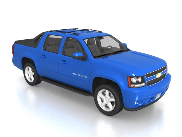 Chevrolet Avalanche Sport Utility Truck 3d Model 3ds Max Files Free