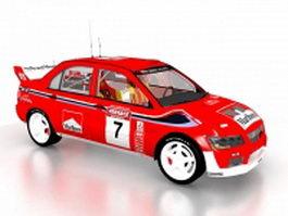 Marlboro racing car 3d model