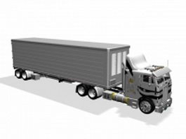 Semi-trailer truck 3d model