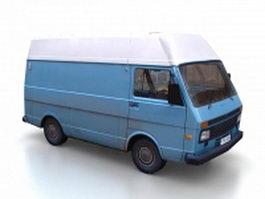 Blue microvan 3d model