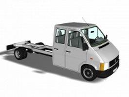 Road tractor truck 3d model