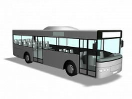 Single-decker rigid bus 3d model