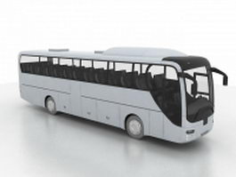 Luxury coach bus 3d model