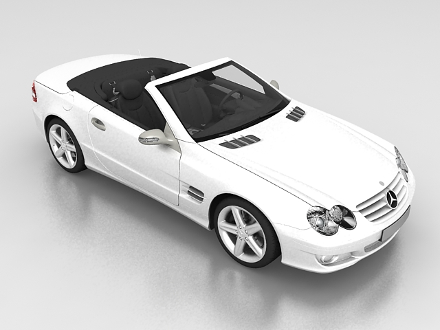 3dSkyHost: Mercedes-Benz SL Roadster 3D Model