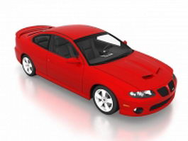 2006 Pontiac GTO red 3d model