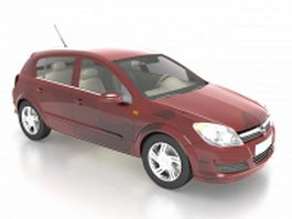 Opel Astra compact family car 3d model