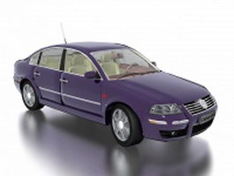 VW Volkswagen Passat large family car 3d model