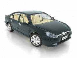 Peugeot 607 executive car 3d model