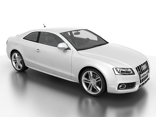 3dSkyHost: Audi S5 V6 Turbo 3D Model