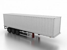 Semi-trailer container 3d model
