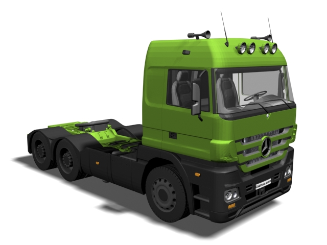 3dSkyHost: Mercedes-Benz Actros heavy duty truck 3D Model