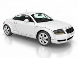 White concept car coupe 3d model