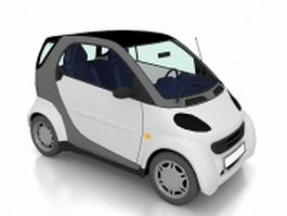 Electric city car 3d model