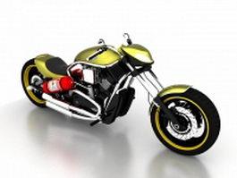 Harley-Davidson motorcycle sportster 3d model