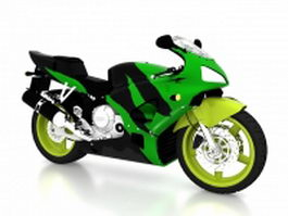 Honda road racing motorcycle 3d model
