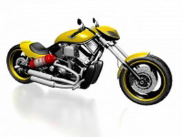 Harley-Davidson V-Rod 3d model