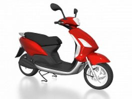 Red and black moped 3d model