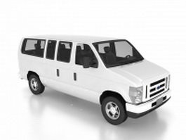 Ford club wagon van 3d model