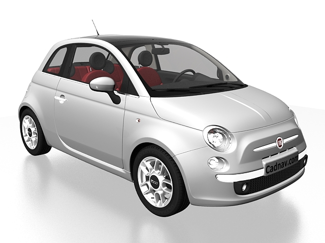 Fiat 500 City Car 3d Model 3ds Max Files Free Download Modeling