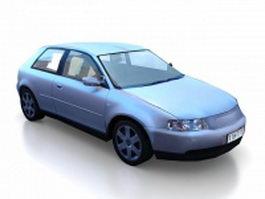 3-Door hatchback car 3d model