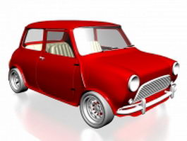Retro style mini car 3d model