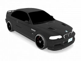 BMW M3 GTR race car 3d model