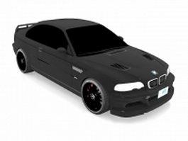 BMW M3 GTR race car 3d model